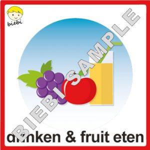 drinken en fruit eten