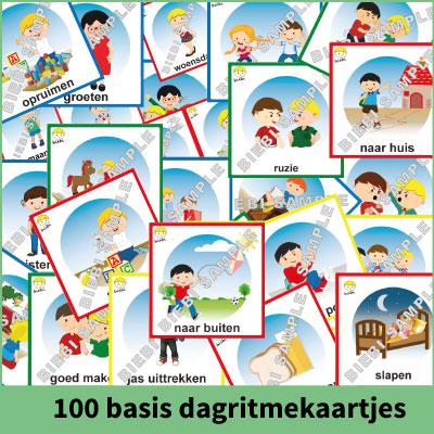 100 basis dagritmekaartjes